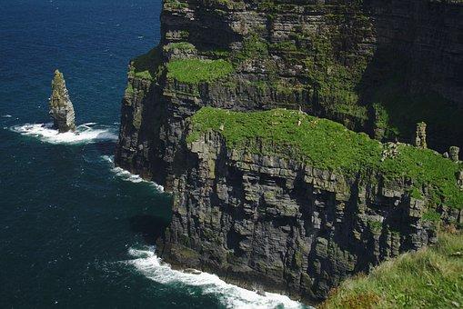 Moher, Ireland, Cliff, Sea, Ocean, Burren Clare