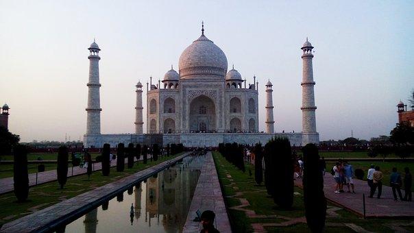 Taj Mahal, Monument, Taj, Tomb, 7 Wonders, Sunset