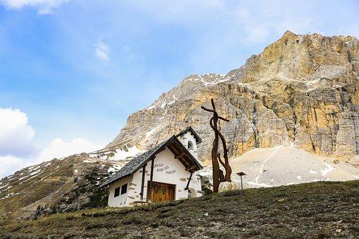 Mountain, Landscape, Mountain Chapel, Building