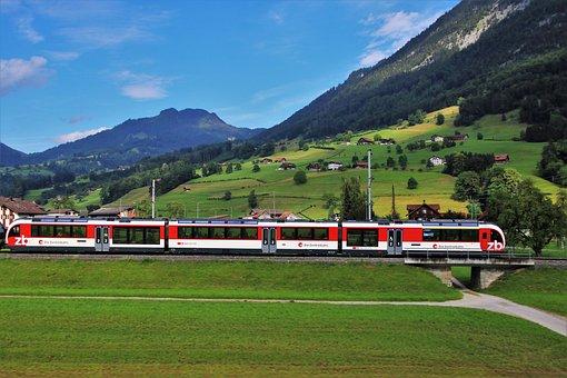 Far View, Train, Tourism, Transport, Landscape, Nature