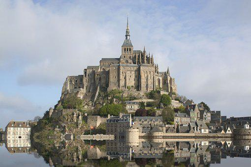 High Tide, Normandy, France, Mont Saint Michel