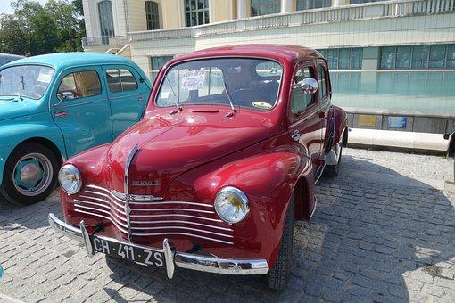 Old Car, Renault, 4cv, Pau, Car Collection