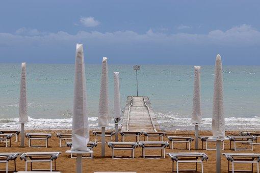 Italy Jesolo, Beach, Holiday, Italy, Sea, Coast, Water