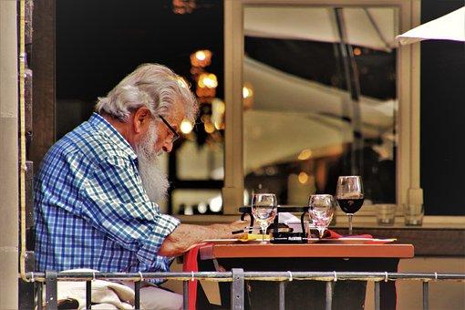 Senior, Cafe, Older, Jehovah, Mood, Restaurant