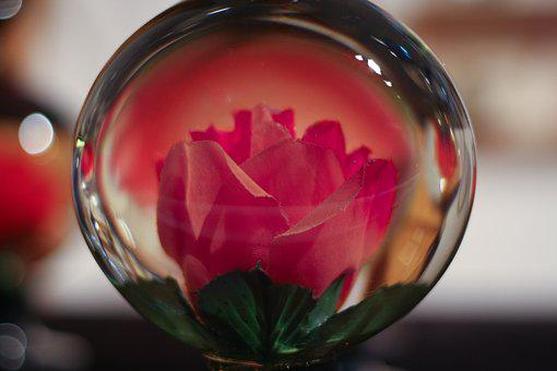 Glass, Ball, Flower, Multicolor, Decoration, Sphere