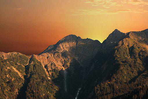 Sunset, Savoie, Beaufortain, Mountain, Landscape