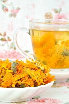 Tea, Behalf Of The Tea, Tea Drink, Chrysanthemum