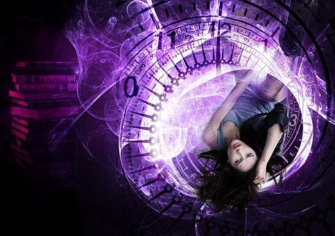 Fantasy, Woman, Time, Clock, Numbers, Young, Fantastic