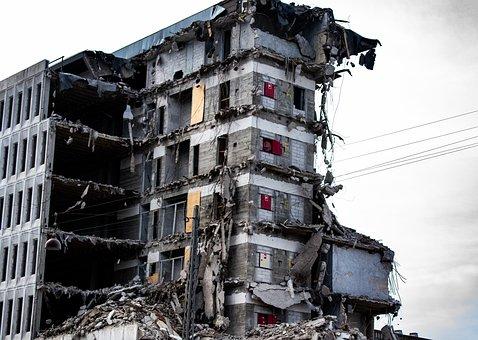 House, Trash, Ruin, Concrete, Destruction, Building