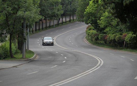 Road, Car, Street, Loop, Curve, Auto, Asphalt, Trees