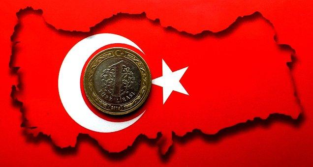 Turkey, Turkish, Lira, Coin, Money, Turkish Flag, Flag