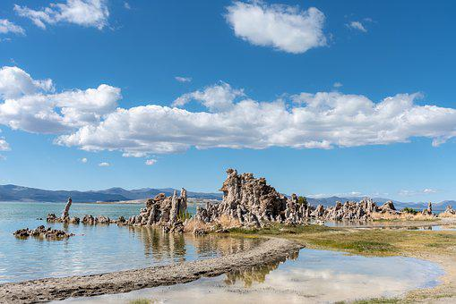 Nature, Mono Lake, Mono, California, Water, Lake, Usa