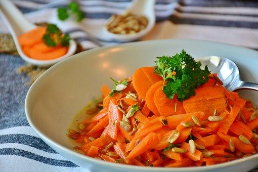 Carrots, Carrot Salad, Vegetables, Vitamins, Orange