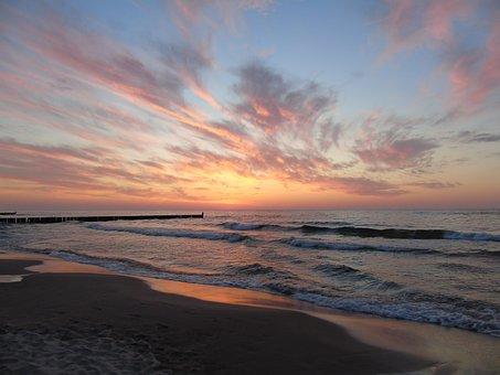 Sea, Water, Beach, The Baltic Sea, The Coast, The Waves