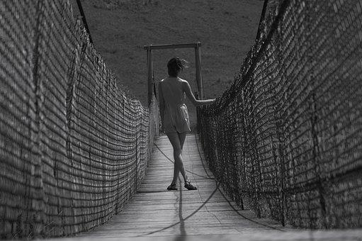 Woman, White And Black, Bridge