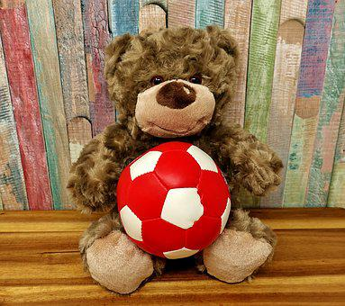 Football, Teddy, Cute, Sweet, World Championship