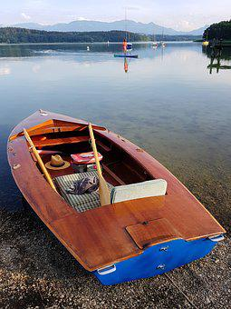 Paddle Boat, Wood, Boat, Water, Lake, Alpine, Nature