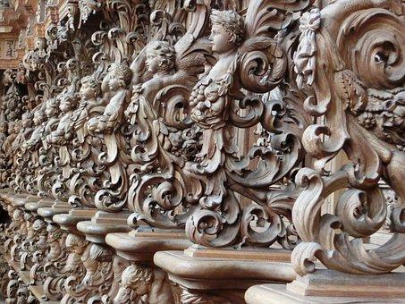 Buxheim, Choir Stalls, Charterhouse, Wood Carving, Art