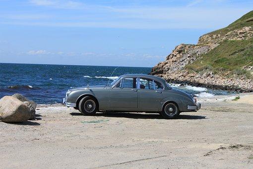 Auto, Jaguar, Oldtimer, Sea, Classic, Old, Old Car
