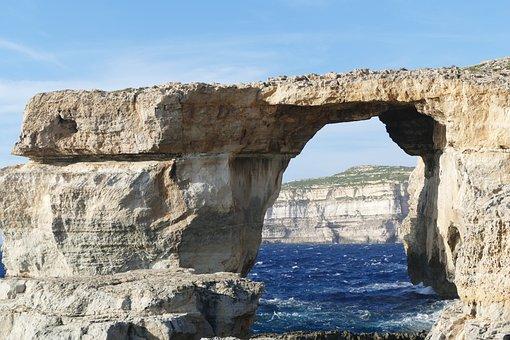 Malta, Gozo, Sea, Landscape, Azure Window, Sea View