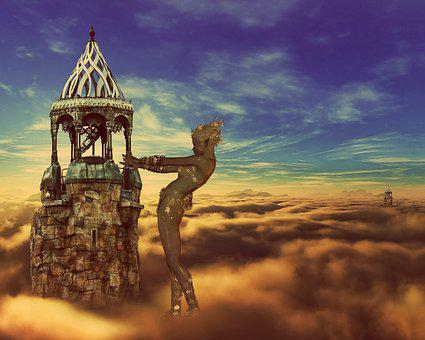 Fantasy, Castle In The Sky, Clouds, Fairy Tale