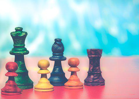 Pawns, Chess Figures, Colorful, Chess, Board Game