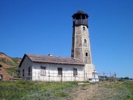 Lighthouse, Sky, Nature, Coast, Sea, Summer, Landscape
