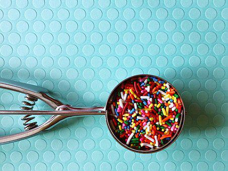 Sprinkles, Colorful, Ice Cream, Sweet, Color, Dessert