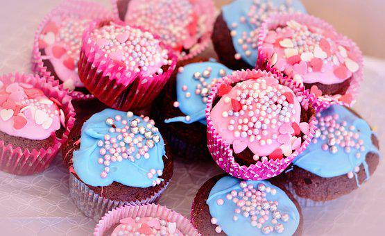 Muffins, Kitchens, Cupcakes, Sugar Pearls, Frosting