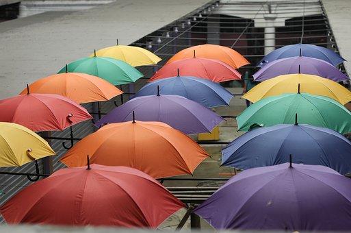 Umbrella, Parasol, Colors, Rain, Decoration