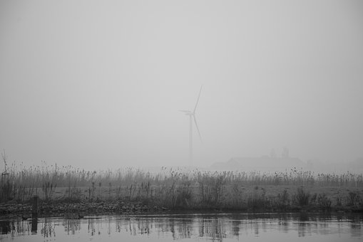 Mill, Fog, Dutch, Energy, Landscape, Nature, Windmill