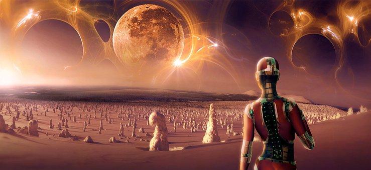 Fantasy, Science Fiction, Moon, Surreal, Photomontage