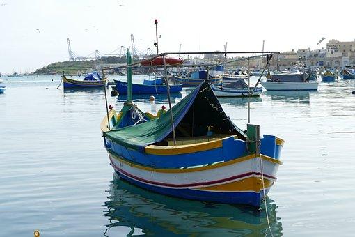 Malta, Marsxlokk, Fishing Boat, Boat, Holiday, Water