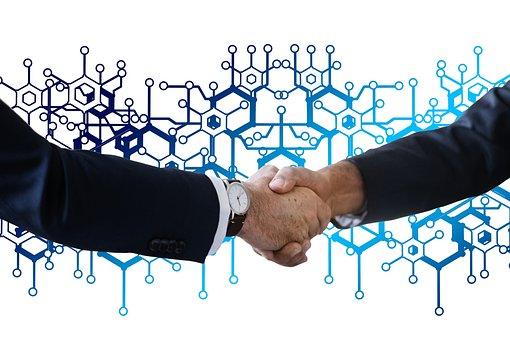Block Chain, Shaking Hands, Handshake, Network, Social