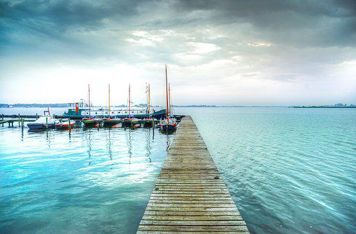 Jetty, Lake, Hdr, Boats, Nature, Landscape, Water, Pier
