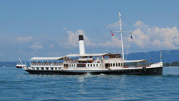 Paddle Steamers, Steamboat, Paddle Steamer, Lake