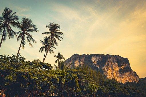 Thailand, Krabi, Sky, Nature, Summer, Landscape, Sunset