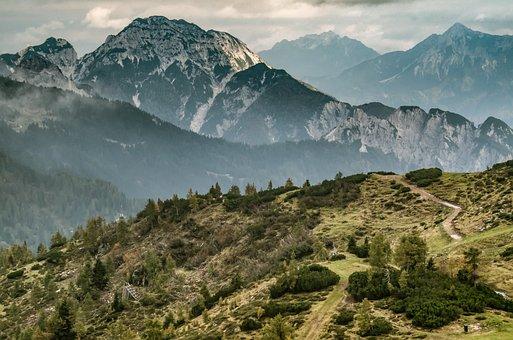Mountains, The Alps, The Path, Austria, Landscape