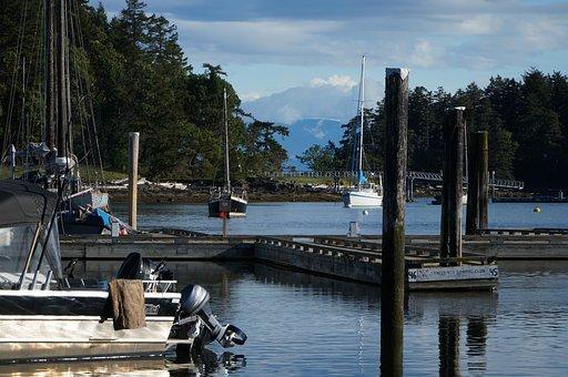 Ocean, Mountain, Port, Landscape, Water, Sky, Blue