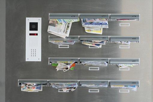 Mailbox, Advertising, Apartment Block, Letters