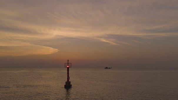 Sunset, Light Tower, Ocean, Lighthouse, Sea, The Sea