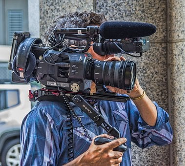Camera, Cameraman, Man, Video, Media, Television