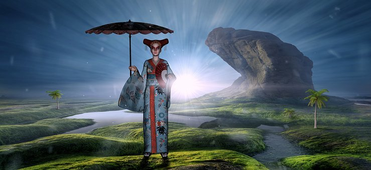Fantasy, Memoirs Of A Geisha, Woman, Composing