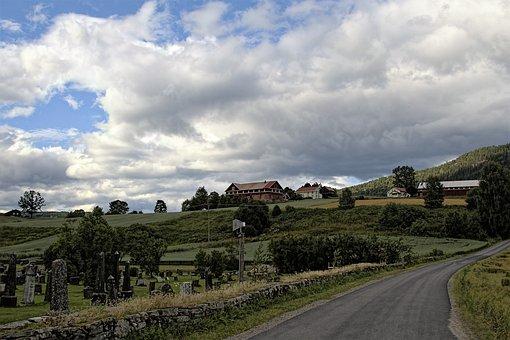 Norway, Heddal, Landscape, Summer, View