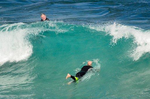 Duck Dive, Surf, Waves, Ocean, Coast, Beach