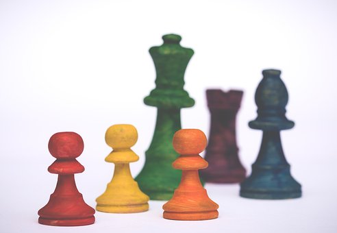 Pawns, Rainbow Colors, Colorful, Pawn, Board Game