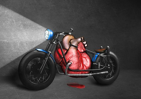 Red Blood For Blue Motorcycle, Red, Blood, Blue