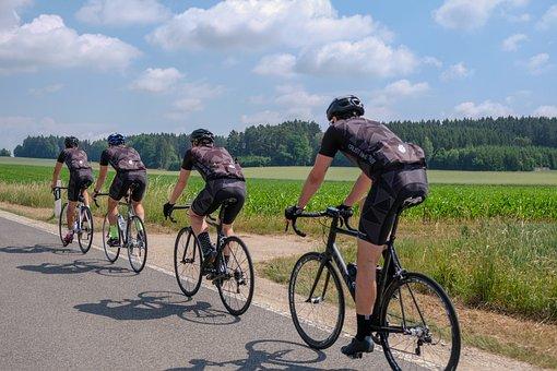 Road Bike, Cyclists, Rtf, Marathon, Sky, Road, Meadow
