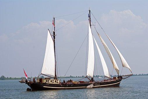 Sailing Boat, Ship, Sailing, Water, Boating, Air, Sea