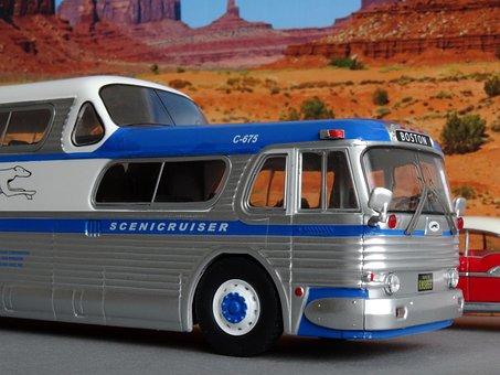 Model Car, Greyhound, Bus, Coach, Scenicruiser, Usa